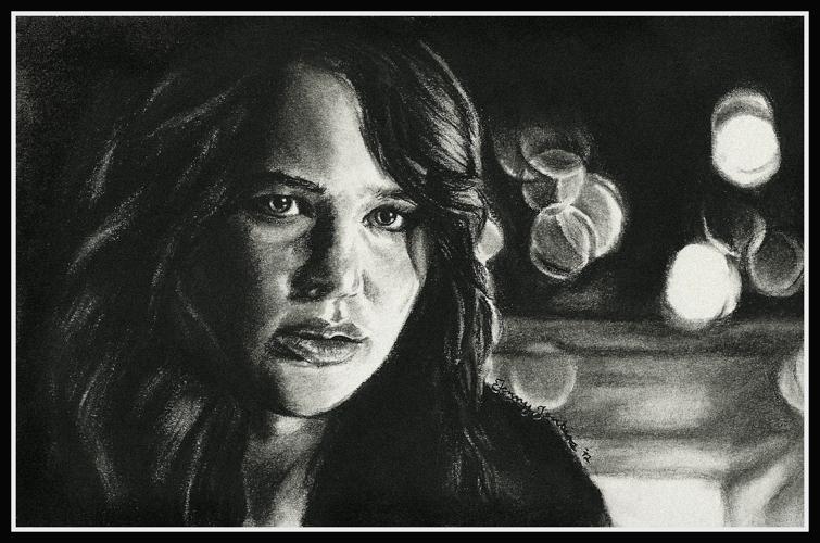 Katniss Everdeen drawing sa pamamagitan ng Jenny Jenkins