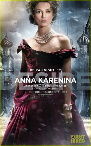 Keira in the character poster for the upcoming film Anna Karenina