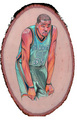 Kevin Durant on wood - nba fan art