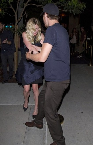 Kirsten Dunst leaving Metta World Peace AKA Ron Artest's party [August 30, 2012]
