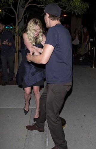 Kirsten Dunst leaving Metta World Peace AKA Ron Artest's party [August 30, 2012]