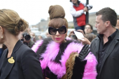 Lady GaGa leaving her hotel in Stockholm, Sweden