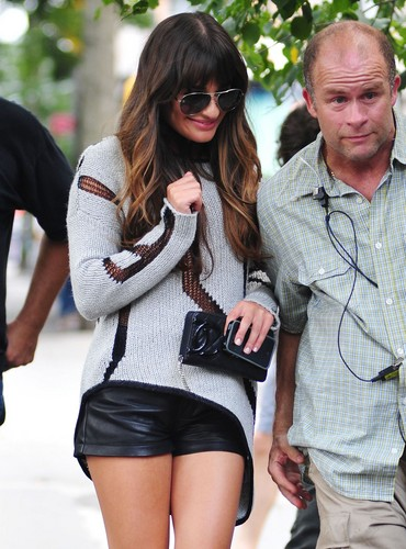Lea Michele Heading Out For Lunch In New York - August 11, 2012