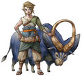 Link & Ordon Goat (Twilight Princess) Concept Art