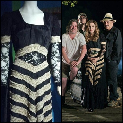 Lisa Marie Presley fond d'écran probably containing a kirtle, a surcoat, and a polonaise called Lisa Marie's clothes from Graceland's exhibit