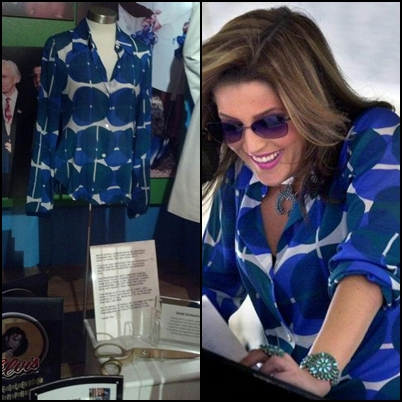 Lisa Marie Presley fond d'écran containing a green beret, fatigues, fatigue, and a sign called Lisa Marie's clothes from Graceland's exhibit