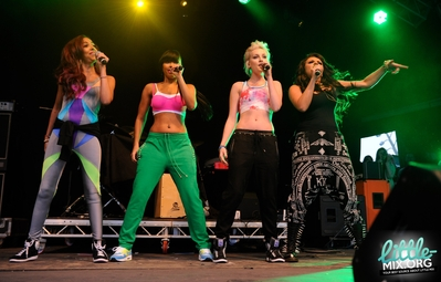 Little Mix performing at the Blackpool Lights Switch On Party - 31/08/12.