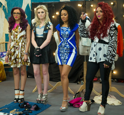"""Little Mix's guest appearance on """"Styled to Rock"""" - August 28th 2012."""