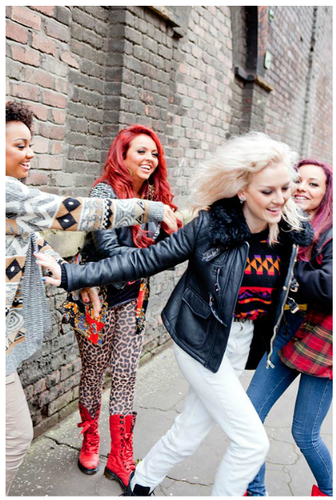 "Little Mix's foto-foto for their autobiography ""Ready to Fly""."