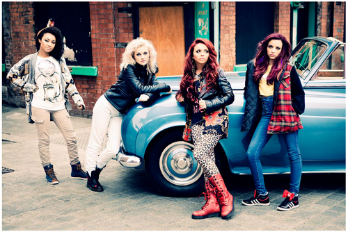 "Little Mix's 사진 for their autobiography ""Ready to Fly""."