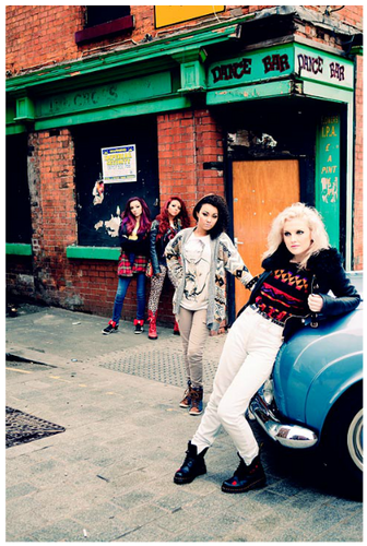 "Little Mix wallpaper probably containing a strada, via titled Little Mix's foto for their autobiography ""Ready to Fly""."