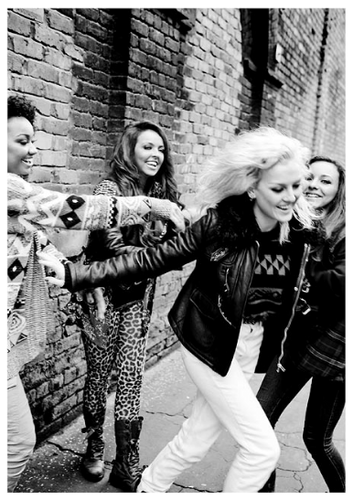 """Little Mix's photos for their autobiography """"Ready to Fly""""."""