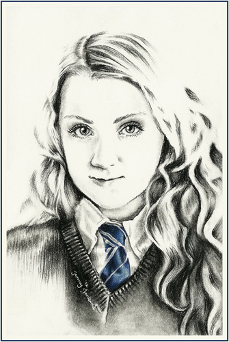 Luna Lovegood drawing by Jenny Jenkins