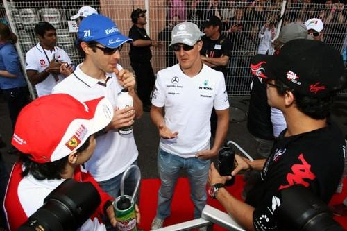 Massa,Senna,Schumi,Di Grassi Monaco 2010