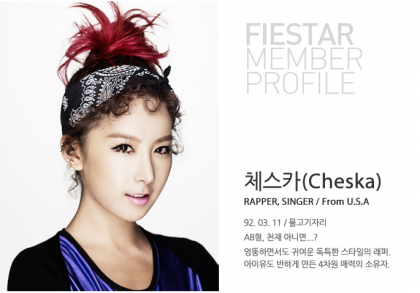 FIESTAR wallpaper with a portrait entitled Member Profiles