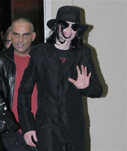 Michael And Fashion Designer, Christian Audigier