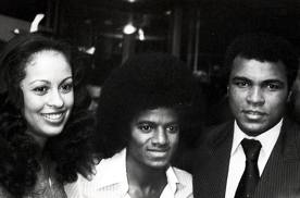 Michael With Boxing Legend, Muhammad Ali And Fourth Wife, Veronica