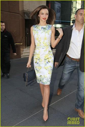 Miranda Kerr: Floral Dress Outing