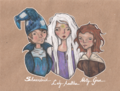 Molly,Amalthea,Schmendrick - the-last-unicorn photo