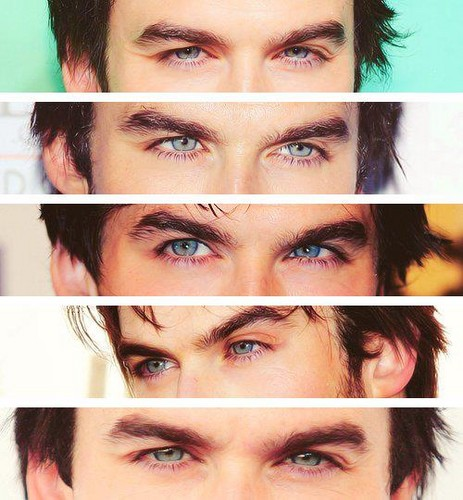 Damon Salvatore wolpeyper with a portrait called Mr. Somerhalder's Eyes