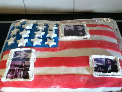 My 15th B-day cake American Flag (I'm Australian)