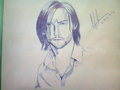 My First Pen sketch Of hugh Jackman