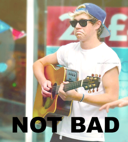 One Direction wallpaper probably with a guitarist called Niall's meme face