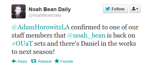 "Noah sitaw (Daniel ""The Stable Boy"") back for season 2"
