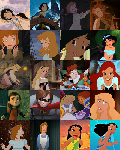 Young Heroines of disney wallpaper titled Older Versions of the Young Heroines