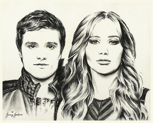 Peeta and Katniss drawing kwa Jenny Jenkins