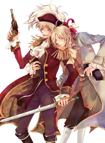 Hetalia karatasi la kupamba ukuta entitled Pirate England and France