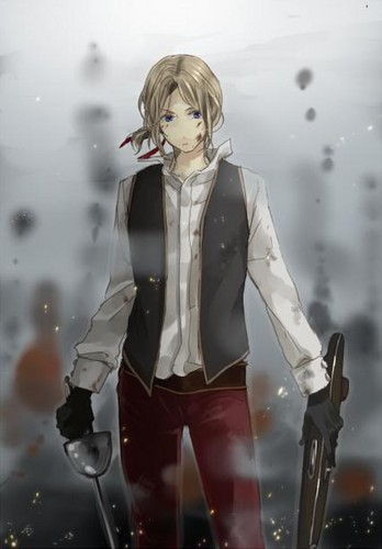 Hetalia wallpaper possibly containing an outerwear, a hip boot, and an overgarment called Pirate France