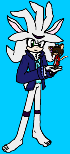 Platinum and Ilila as The White Rabbit and The Doormouse.