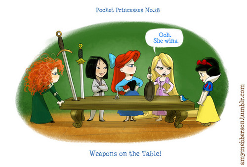 Pocket Princesses No. 28 Weapons on the Table!