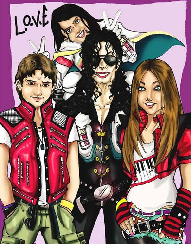Prince Jackson, Blanket Jackson, Michael Jackson and Paris Jackson ♥♥