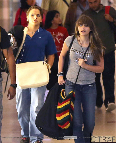 Prince Jackson and his sister Paris Jackson at the airport ♥♥