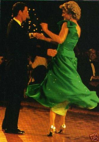 Princess Diana dancing with Prince Charles