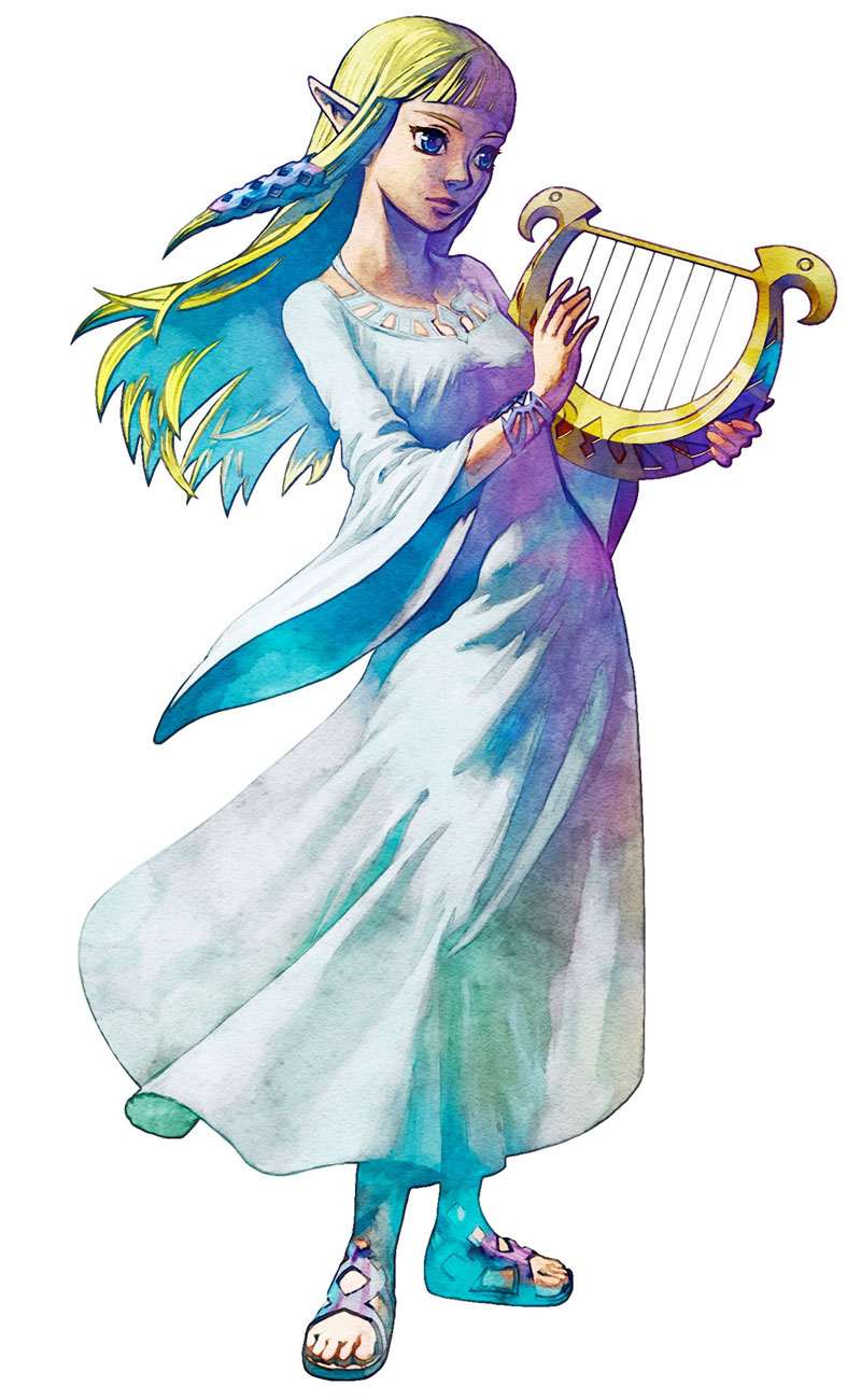 Zelda the skyward sword-Link Princess-Zelda-Skyward-Sword-the-legend-of-zelda-32057918-800-1300