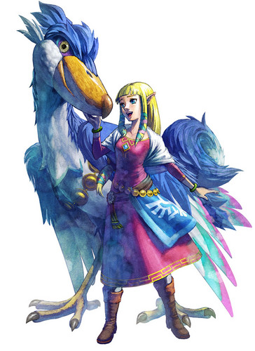 The Legend of Zelda wallpaper possibly with anime called Princess Zelda(Skyward Sword)