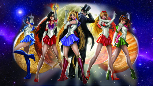 Sailor Moon Hintergrund entitled Real Life Sailor Scouts