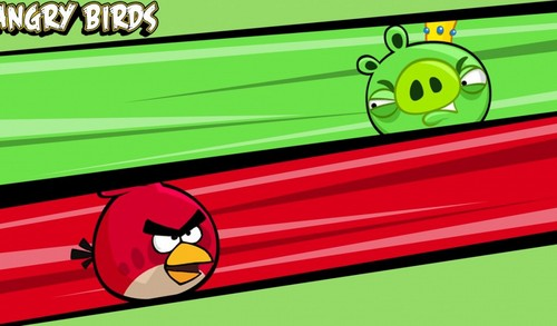 Angry Birds wallpaper probably with a diner entitled Red Bird VS King Pig