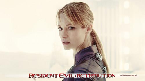 Resident Evil wallpaper containing a portrait titled Resident Evil Retribution Jill Valentine