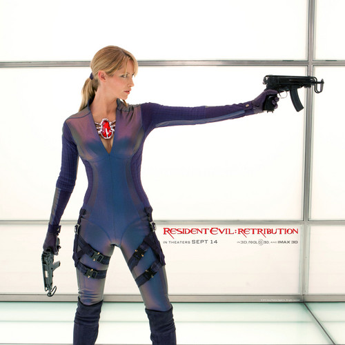 Resident Evil wallpaper containing a legging and tights entitled Resident Evil Retribution Jill Valentine