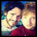 Richard with Ed Sheeran