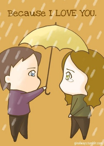 Caskett wallpaper possibly with anime called Rick & Kate Fun Cartoons