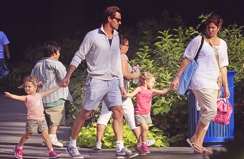 Roger with family