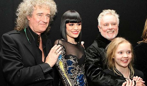 Roger with his daughter, Brian May and Jessie J