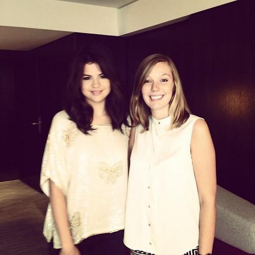 Selena Gomez with a shabiki at Paris. 3rd September 2012