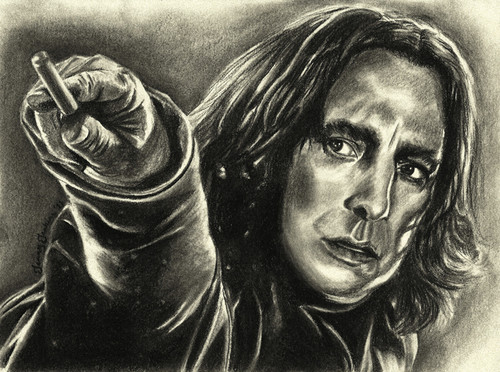 Severus Snape drawing द्वारा Jenny Jenkins