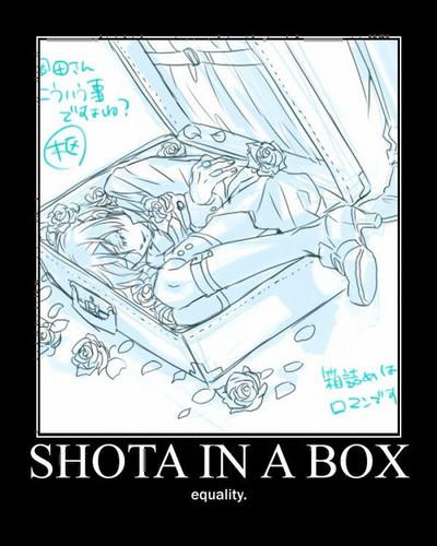 kuroshitsuji fondo de pantalla containing anime called Shota In a Box